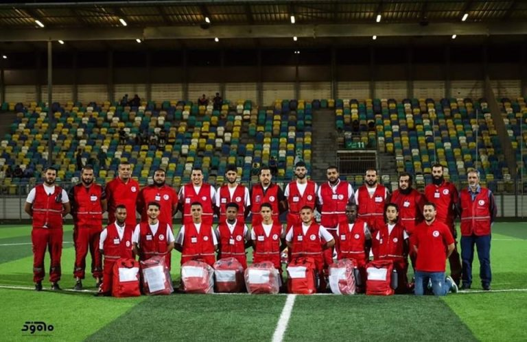 فريق الطوارئ بجمعية الهلال الأحمر الليبي بنغازي