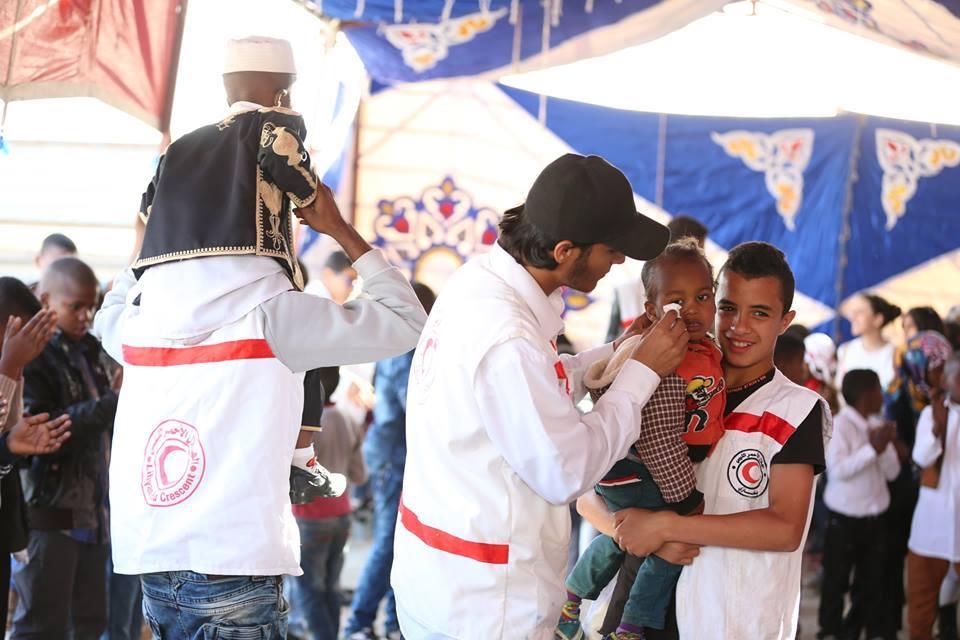 إحتفال مع أطفال تاورغاء بمناسبة عيد الطفل .