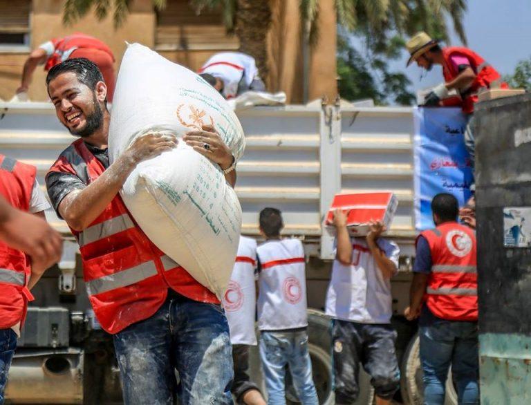 إغاثة مراكز الإيواء .
