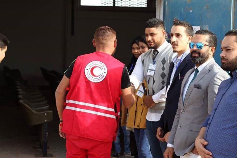 مشاركة فريق الاسعاف الاولي التابع لفريقالطوارئ