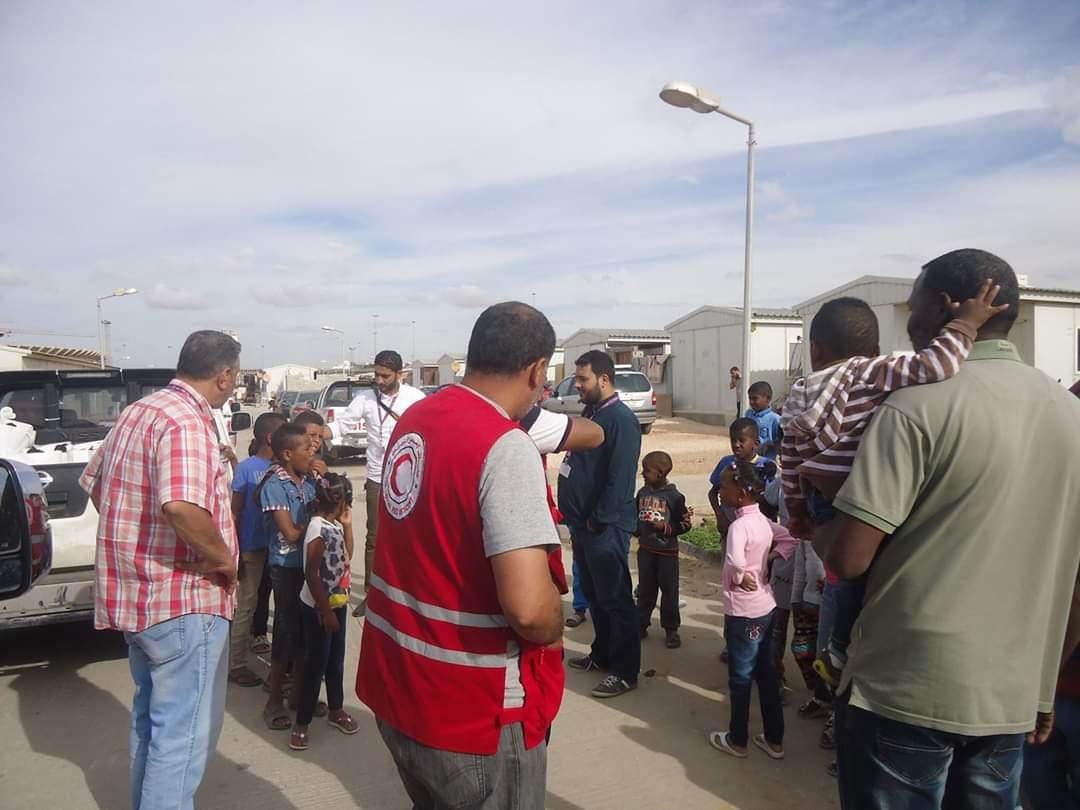 تعاون شركة ليبيانا في مخيم تاورغاء.