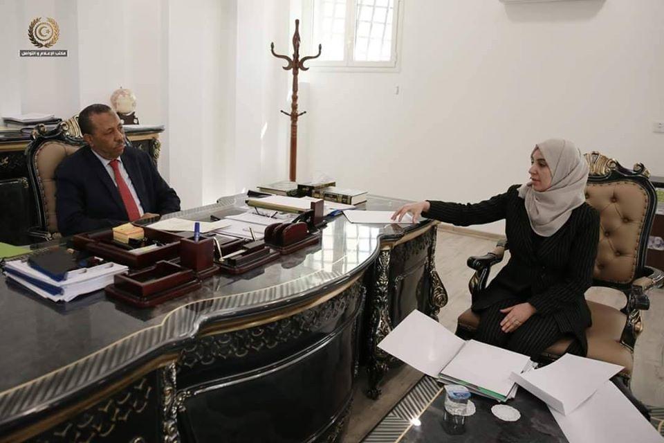 نقلا عن صفحة الحكومة الليبية