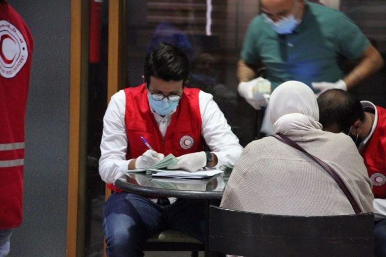 استقبلت جمعية الهلال الأحمر الليبي بنغازي العائدين من دولة الأردن