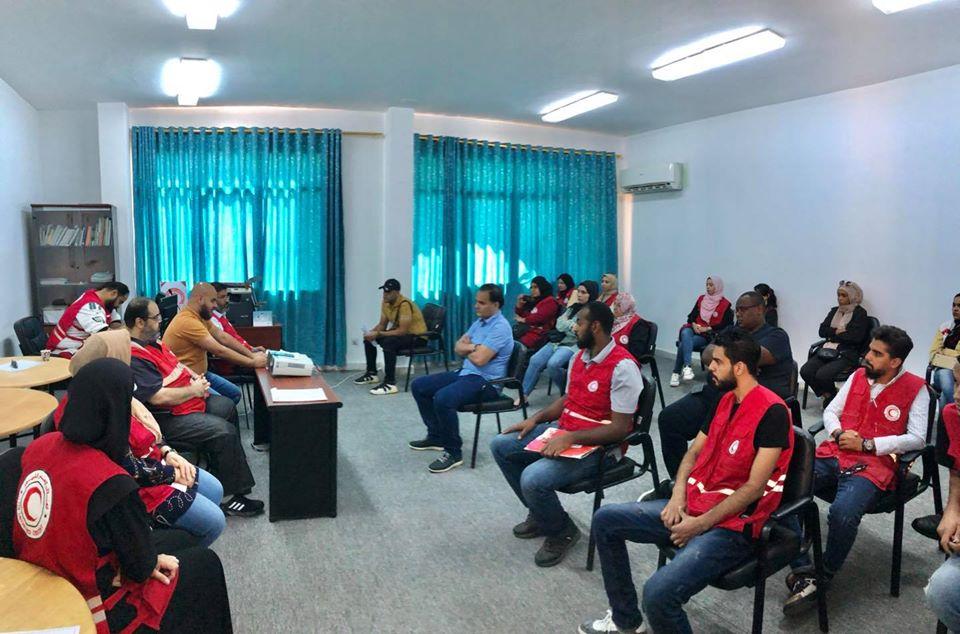 الاجتماع التقابلي الأول بين اللجنة التنسيقية المؤقته لمكتب الشباب والمتطوعين بفرع بنغازي