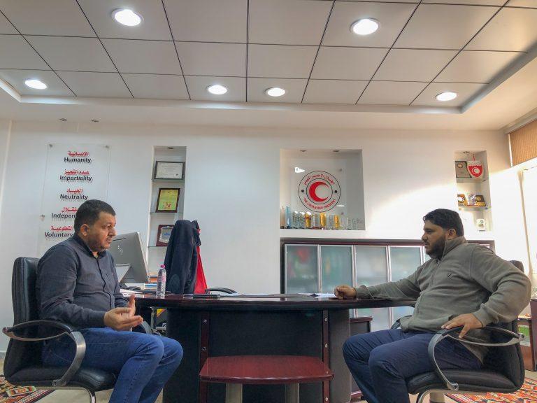 استقبال مدير الفرع لمدير الشؤون الاجتماعية فرع بنغازي