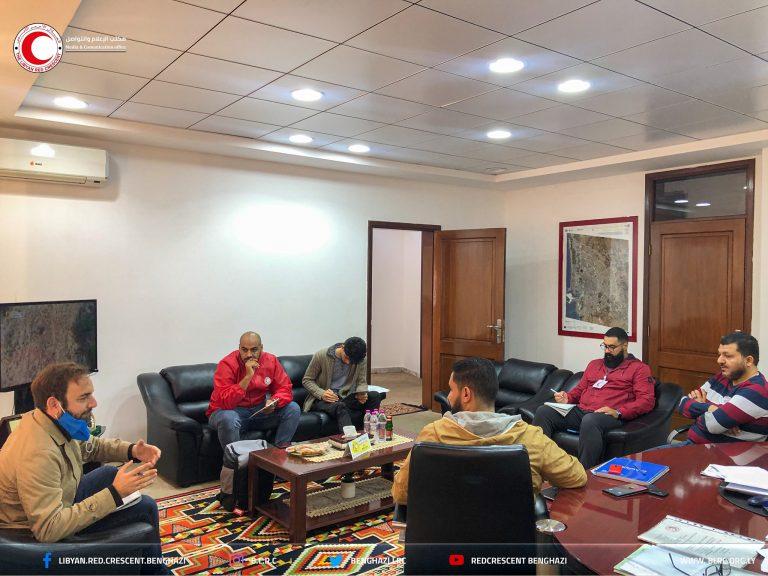 اجتماع لتوحيد الجهود بين فرع بنغازي وقسم الحماية في اللجنة الدولية للصليب الأحمر والأمانة العامة
