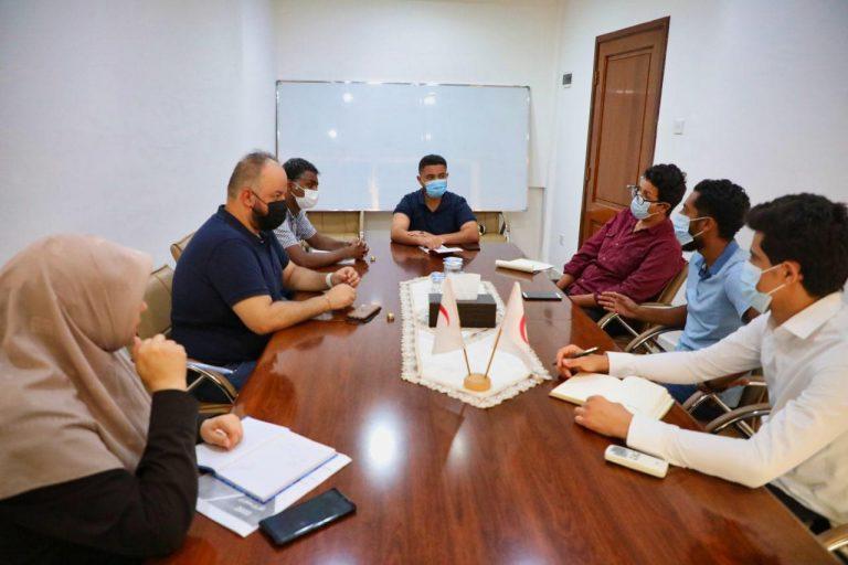 إجتماع دوري بين جمعية الهلال الأحمر الليبي فرع بنغازي واللجنة الدولية للصليب الأحمر