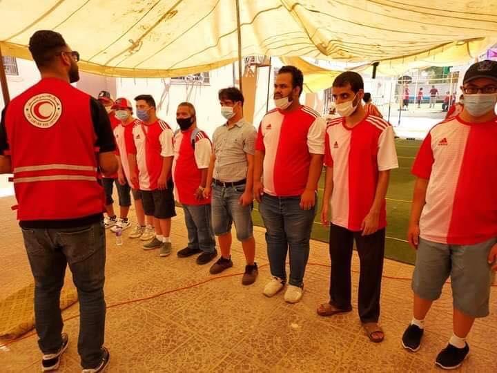 الهلال الاحمر بنغازي في مخيم اليوم الواحد لمنتسبي جمعية اصدقاء متلازمة داون